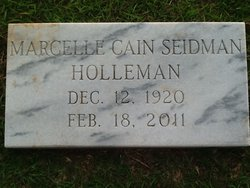 Mary Marcelle <I>Cain</I> Holleman