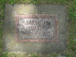 Sarah <I>Hazeldine</I> Thayer