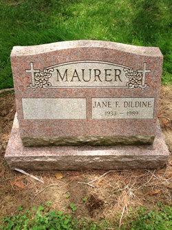 Jane F <I>Dildine</I> Maurer