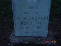 Emma <I>Puckett</I> Thomas