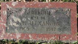 Gertrude <I>Bixler</I> Alexander