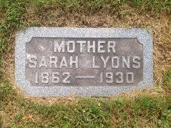Sarah <I>Lane</I> Lyons