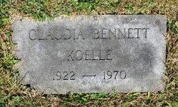 Claudia Cochran <I>Bennett</I> Koelle