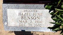Hazel June Benson