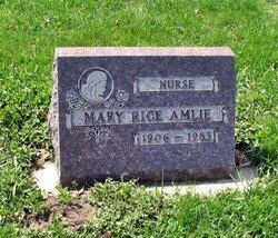 Mary <I>Rice</I> Amlie