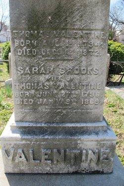 Sarah <I>Brooks</I> Valentine