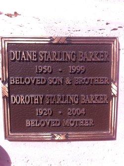 Dorothy Elizabeth <I>Starling</I> Barker