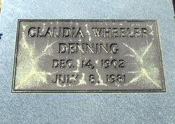 Claudia <I>Wheeler</I> Denning