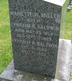 Marriette W. <I>Miller</I> Baldwin