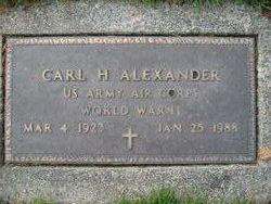 Carl H Alexander