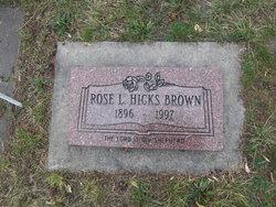 Rose Leah <I>Hicks</I> Brown