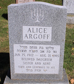 Alice Argoff