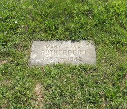 Mary Jane <I>Turner</I> Rutherford