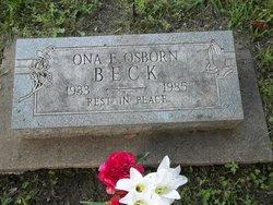 Ona <I>Osborn</I> Beck