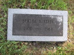 Bertha B <I>Cornwell</I> Stein