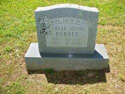 Sarah Louise <I>Walker</I> Rorrer