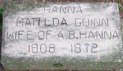 Matilda W. <I>Guinn</I> Hanna
