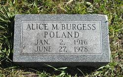 Alice M <I>Burgess</I> Poland