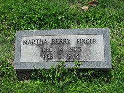 Martha Louise <I>Berry</I> Finger