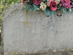 Mary Ella E. <I>Cox</I> Baxter