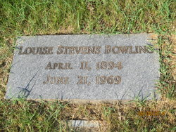 Mrs Annie Louise <I>Stevens</I> Bowling