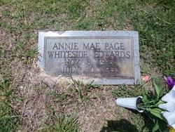 Annie Mae Page <I>Whiteside</I> Edwards