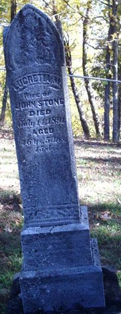 Lucretia M <I>Pratt</I> Stone