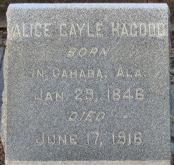 Alice M <I>Gayle</I> Hagood