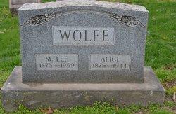 """Marshall Lee """"Lee"""" Wolfe"""