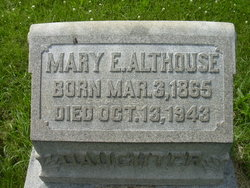 Mary E. <I>Yeich</I> Althouse