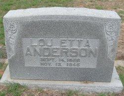 Lou Etta <I>Rogers</I> Anderson