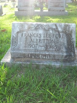 Frances Lee <I>Fore</I> Albritton
