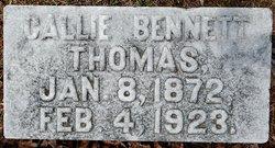 Callie May <I>Bennett</I> Thomas