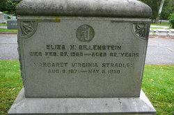"""Elizabeth H """"Eliza"""" <I>De La Motta</I> Billenstein"""