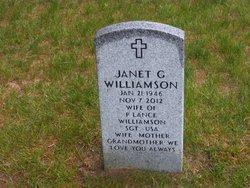 Janet <I>Grueter</I> Williamson