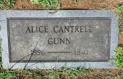 Alice <I>Cantrell</I> Gunn