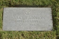 Harry T Addison