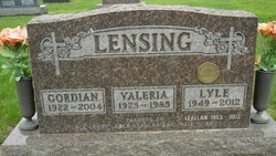 Valeria Marie <I>Imoehl</I> Lensing