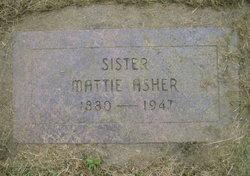 Mattie <I>Yates</I> Asher