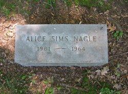 Alice Dorothy <I>Sims</I> Nagle