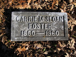 Carrie M <I>Sloan</I> Foster