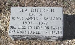 Ola Ethel <I>Ballard</I> Dittrich