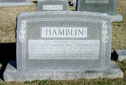Will C Hamblin, Jr
