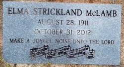 Elma <I>Strickland</I> McLamb