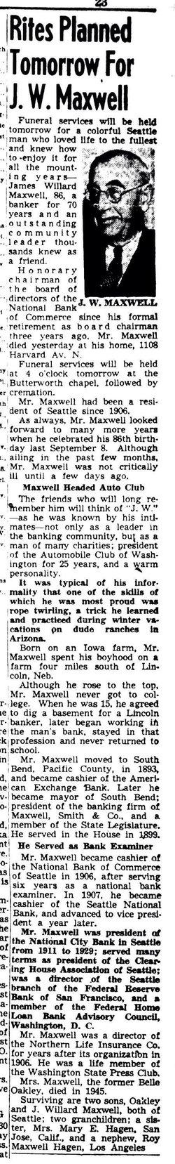 """James Willard """"J. W."""" Maxwell"""