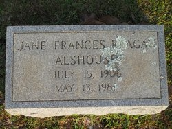 Jane Frances <I>Reagan</I> Alshouse