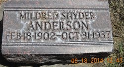 Mildred C. <I>Snyder</I> Anderson