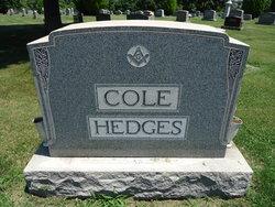 Mrs Amelia <I>Cole</I> Hedges