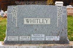 Joseph Thomas Whitley, Sr