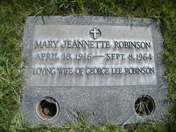 Mary Jeannette Robinson